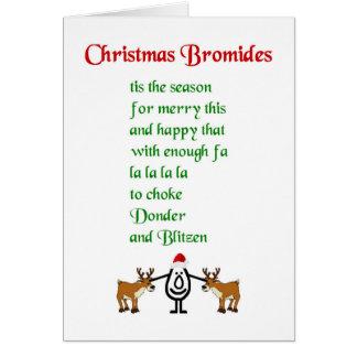 Weihnachtsbromide - ein lustiges Weihnachtsgedicht Grußkarte