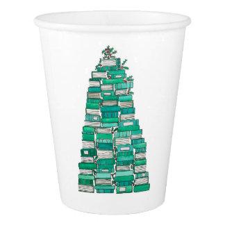 Weihnachtsbuch-Baum-Schalen Pappbecher