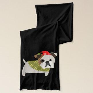 Weihnachtsbulldogge Schal