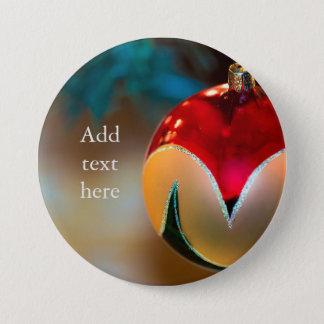 Weihnachtsbunte Verzierung Runder Button 7,6 Cm
