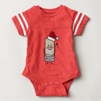 Weihnachtsburrito-wellenartig bewegender baby strampler