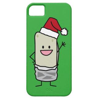 Weihnachtsburrito-wellenartig bewegender iPhone 5 schutzhülle
