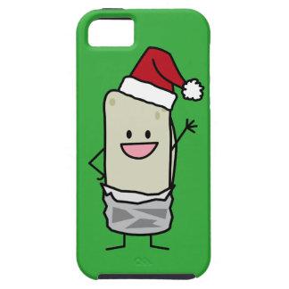 Weihnachtsburrito-wellenartig bewegender tough iPhone 5 hülle