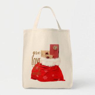 Weihnachtsc$re-verwendbare Einkaufstasche
