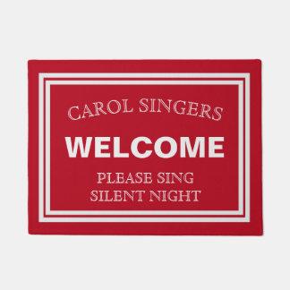 Weihnachtscarol-Sänger-willkommene Tür-Matte Türmatte