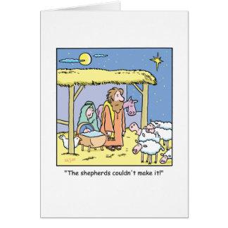 WeihnachtsCartoon-Jesus-Stall-Szene Karte
