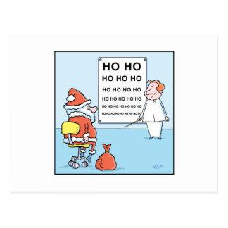 WeihnachtsCartoon-Sankt-Augen-Test Postkarte