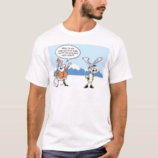 WeihnachtsCartoons Sankt und das auffallende Ren T-Shirt