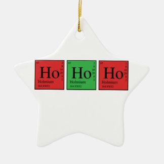 Weihnachtschemie Keramik Stern-Ornament