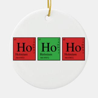 Weihnachtschemie Rundes Keramik Ornament
