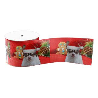 "WeihnachtsChihuahuahund 3"" Grosgrainband Ripsband"