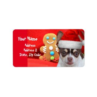 WeihnachtsChihuahuahundadressen-Etiketten Adressaufkleber