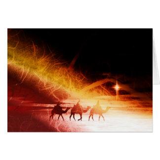 Weihnachtscollage, warme Farben Karte