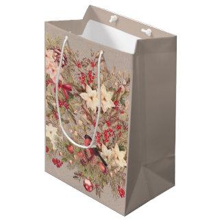 Weihnachtscollagen-mittlere Geschenk-Tasche Mittlere Geschenktüte