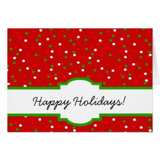 WeihnachtsConfetti •  Glühender Zimt besprüht Grußkarten