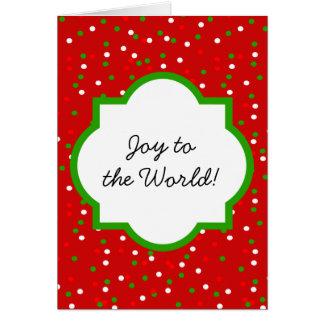 WeihnachtsConfetti •  Glühender Zimt besprüht Karte