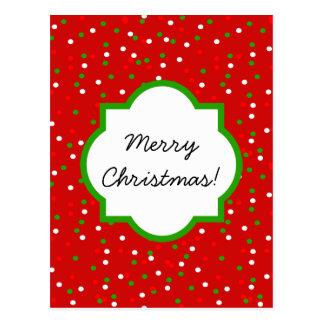 WeihnachtsConfetti •  Glühender Zimt besprüht Postkarte
