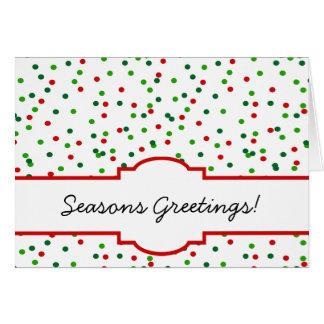 WeihnachtsConfetti •   Königliche Zuckerglasur Grußkarte