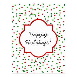 WeihnachtsConfetti •   Königliche Zuckerglasur Postkarten