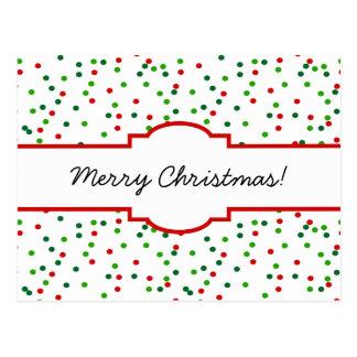 WeihnachtsConfetti •   Königliche Zuckerglasur Postkarte