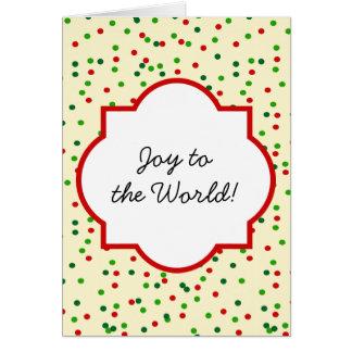 WeihnachtsConfetti • Zuckerplätzchen besprüht Grußkarten