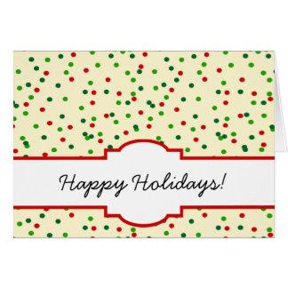 WeihnachtsConfetti • Zuckerplätzchen besprüht Karte