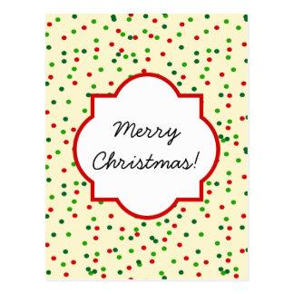 WeihnachtsConfetti • Zuckerplätzchen besprüht Postkarten