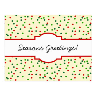 WeihnachtsConfetti • Zuckerplätzchen besprüht Postkarte
