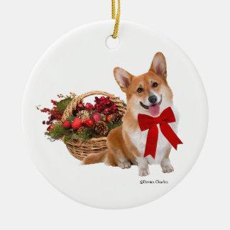 """""""Weihnachtscorgi-"""" Verzierung Keramik Ornament"""
