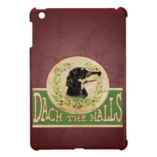 WeihnachtsDackel-Vintager StechpalmeWreath iPad Mini Hülle