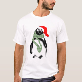 Weihnachtsdame Penquin T-Shirt