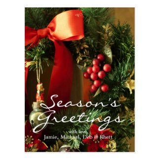 Weihnachtsdekoration Postkarte