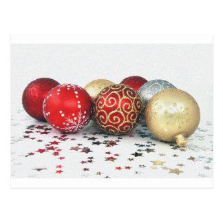 Weihnachtsdekorations-Entwurf Postkarte