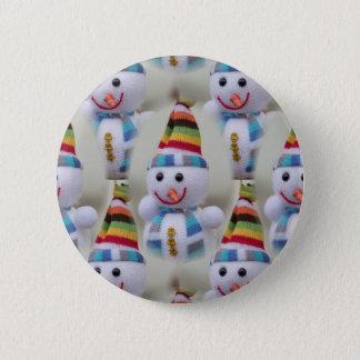 Weihnachtsdekorations-Schneemänner Runder Button 5,1 Cm
