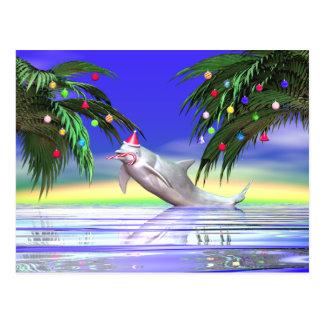 Weihnachtsdelphin Postkarten
