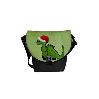 Weihnachtsdinosaurier Kurier Tasche