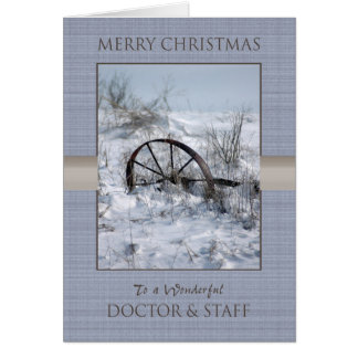 Weihnachtsdoktor und -personal karte