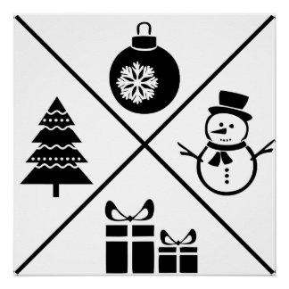 """Weihnachtsdruck 20"""" x20 """" poster"""