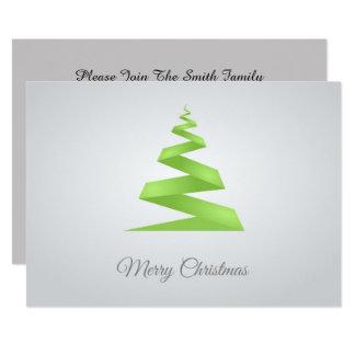 Weihnachtseinfacher Band-Weihnachtsbaum Karte
