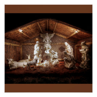 Weihnachtseinführungs-Jesus-Geburt Poster