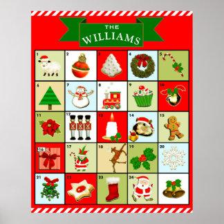 Weihnachtseinführungs-Kalender Poster