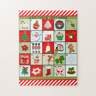 Weihnachtseinführungs-Kalender Puzzle