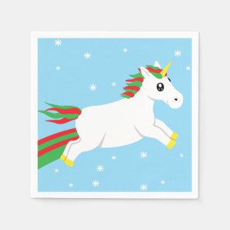 WeihnachtsEinhorn-Feiertags-Servietten Serviette
