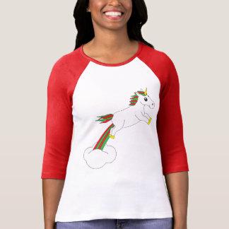 WeihnachtsEinhorn-Feiertags-Strickjacke T-Shirt