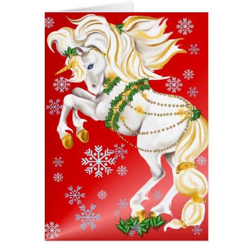 WeihnachtsEinhornplakat Grußkarte