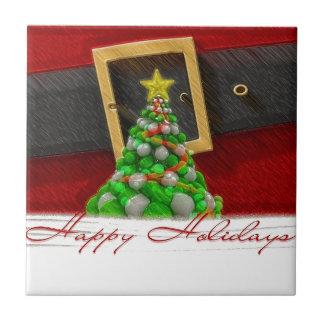 Weihnachtseinstellung mit Weihnachtsmann-Gurt Fliese