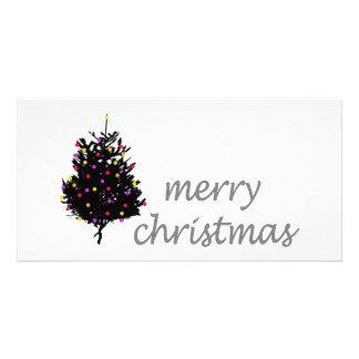 Weihnachtseinzigartiger Entwurf! Niedlicher Weihna Fotokartenvorlagen
