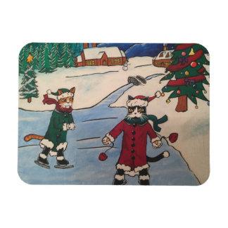 Weihnachtseis-Skaten Magnet