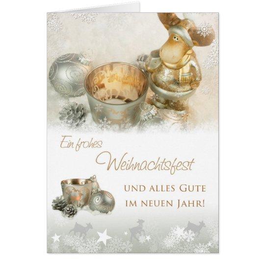 Weihnachtselch Karte