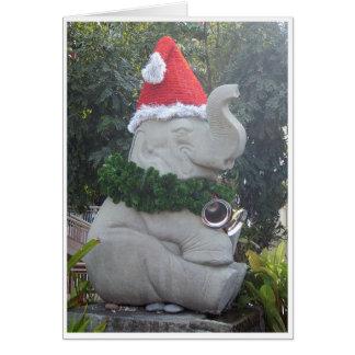 Weihnachtselefant Grußkarte